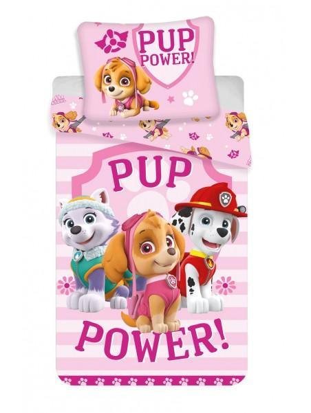 Bavlnené posteľné obliečky Tlapková patrola pre dievčatá - Skye (Paw Patrol)
