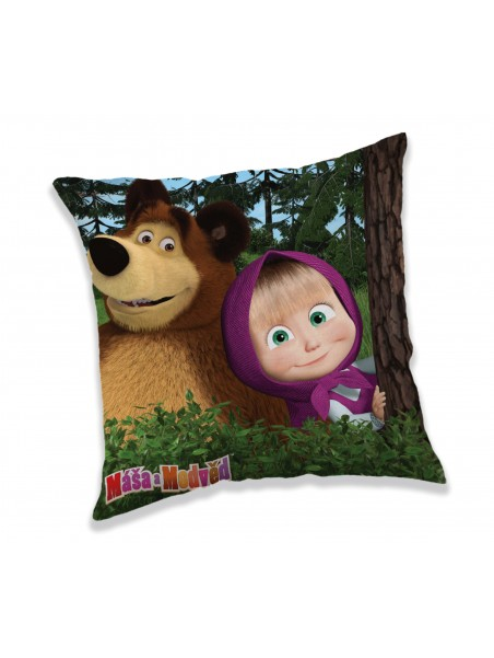Povlak na polštář Máša a Medvěd
