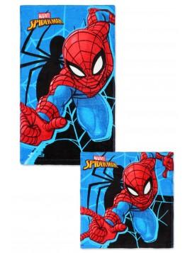Set bavlněných ručníků na obličej a na ruce Spiderman
