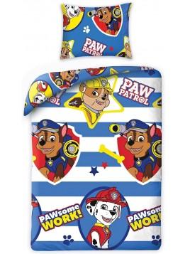 Dětské bavlněné povlečení Tlapková patrola (Paw Patrol) - pruhy