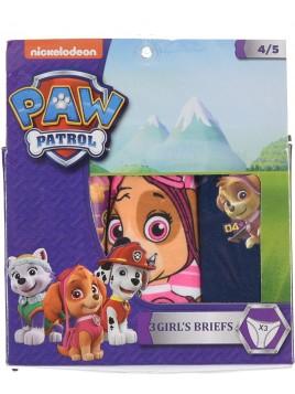 Dívčí bavlněné kalhotky Tlapková Patrola (Paw Patrol) 3ks