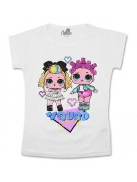 Dívčí tričko s krátkým rukávem L.O.L. Surprise - bílé