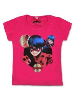 Dievčenské tričko s krátkym rukávom Čarovná lienka (Ladybug) - ružové