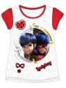 Dívčí tričko s krátkým rukávem Kouzelná beruška (Ladybug) - světle šedé