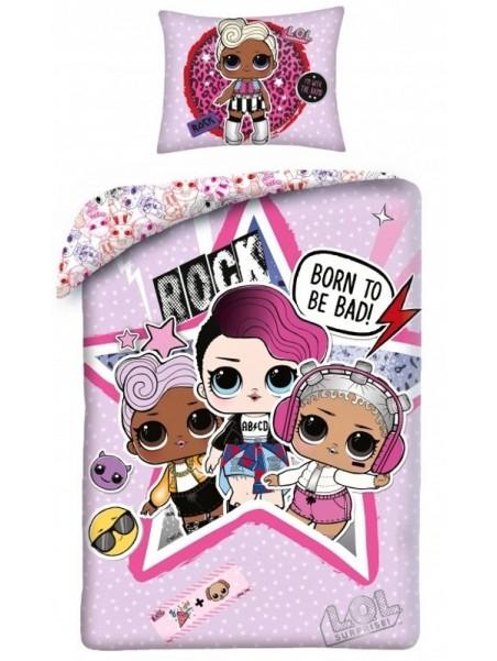 Detské bavlnené obliečky L.0.L. surprise - ROCK