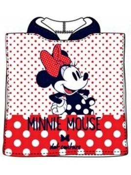 f506ab786b73 Detské bavlnené pončo osuška s kapucňou Minnie Mouse (Disney) - bodky