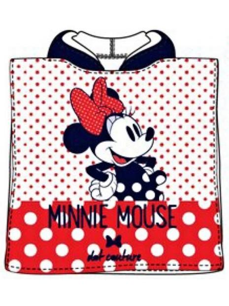Dětské bavlněné pončo osuška s kapucí Minnie Mouse (Disney) - puntíky