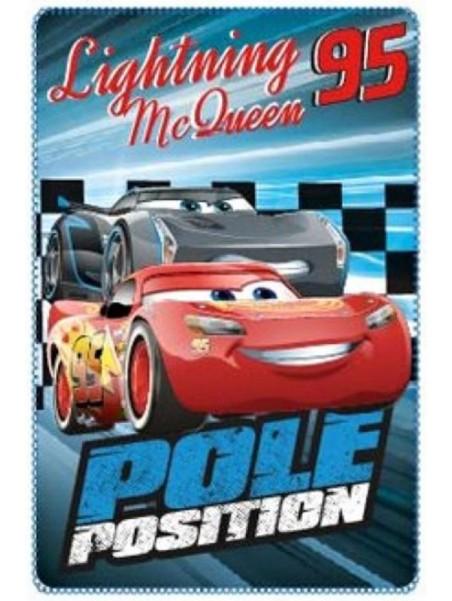 Dětská fleece deka Auta (Cars - Pixar) - modrá