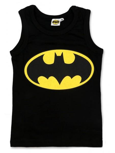 Chlapčenský bavlnený nátelník Batman - čierny