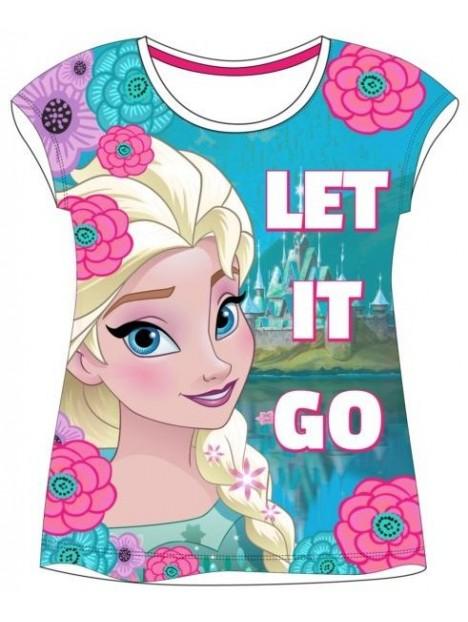 245fca8f502e Dievčenské tričko s krátkym rukávom Ľadové kráľovstvo (Frozen) - biele