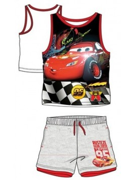 Chlapecká letní set Auta (Cars PIXAR) - šedý