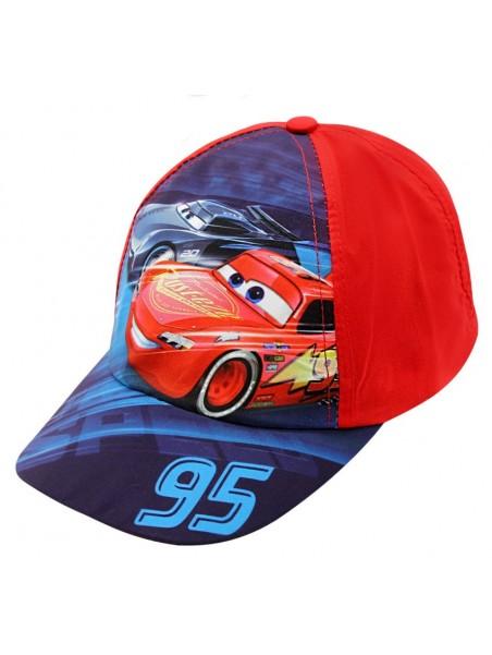 Chlapecká kšiltovka auta McQueen (Cars-Auta) - červená