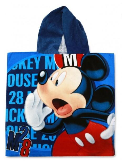 Dětské bavlněné pončo osuška s kapucí Mickey Mouse
