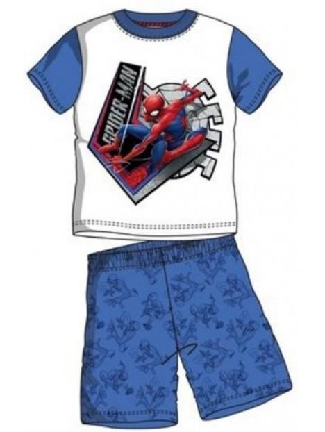 808fe8963 Chlapčenské letné pyžamo Spiderman - modré