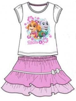 Dívčí letní set Tlapková patrola (Paw Patrol) - tričko a sukně