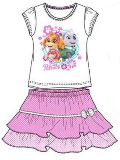 Dievčenské letné set Tlapková patrola (Paw Patrol) - tričko a sukňa
