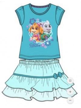 Dívčí letní komplet Tlapková patrola (Paw Patrol) - tričko a sukně