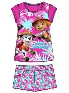 Dívčí letní set Tlapková patrola (Paw Patrol) - růžový