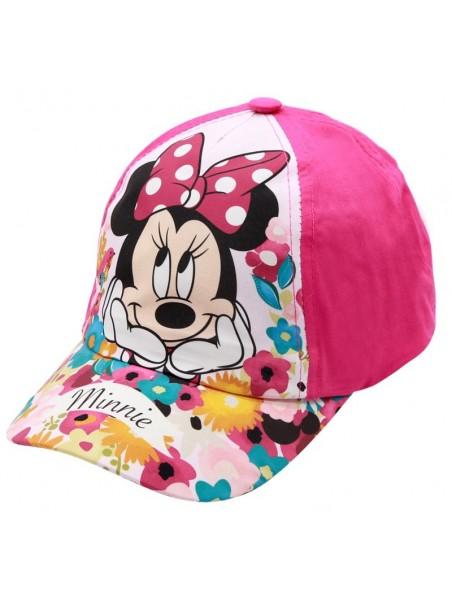 Dievčenská šiltovka Minnie Mouse (Disney) - tm. ružová