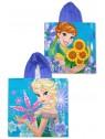 Dívčí bavlněné pončo osuška s kapucí Ledové království - Frozen