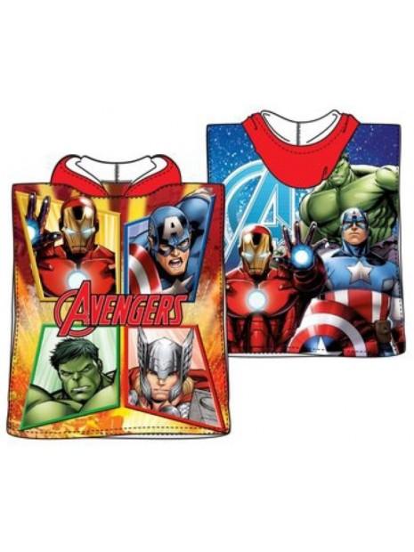 Dětské bavlněné pončo osuška s kapucí Avengers - MARVEL