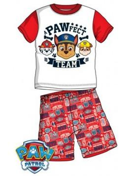 Letné chlapčenské pyžamo Tlapková patrola (Paw Patrol) - červené