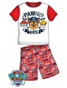 Letní chlapecké pyžamo Tlapková patrola (Paw Patrol) - červené