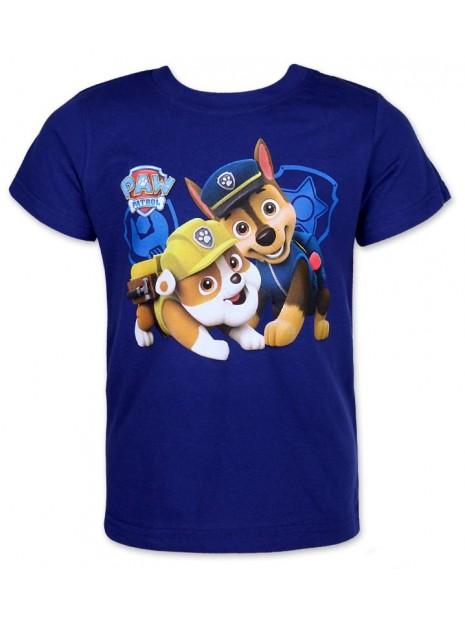 Chlapecké tričko s krátkým rukávem Tlapková patrola (Paw Patrol) - tm. modré