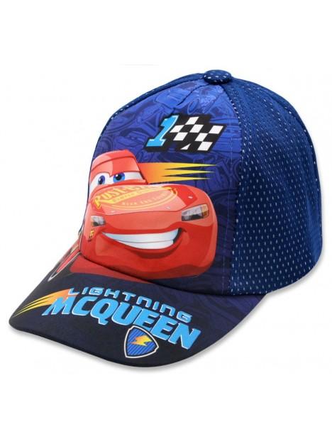 714808150 Chlapčenská šiltovka auta McQueen (Cars) - tm. modrá