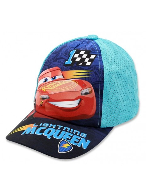 Chlapčenská šiltovka auta McQueen (Cars) - tyrkysová