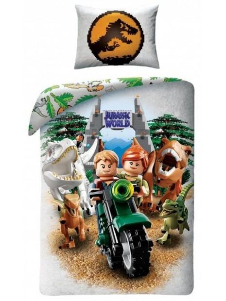 Bavlnené posteľné obliečky LEGO - Jurský park