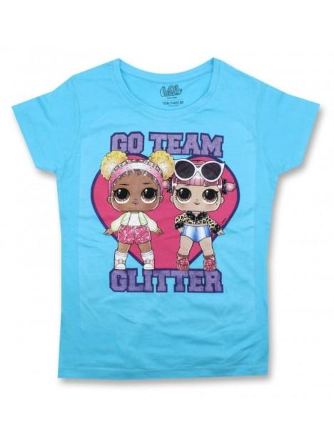 ddf3dcaf2 Dievčenské tričko s krátkym rukávom L.O.L. Surprise GLITTER - modré