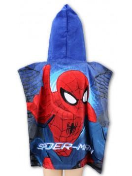 Dětské bavlněné pončo osuška s kapucí Spiderman MARVEL
