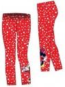 Dívčí legíny Minnie Mouse - Disney - červené