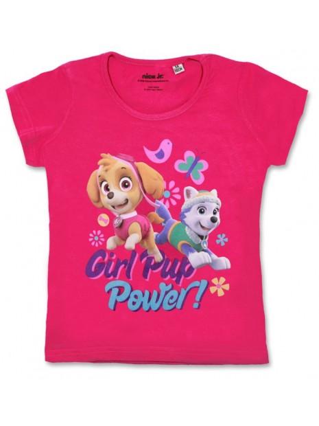 Dívčí tričko s krátkým rukávem Tlapková patrola Skye (Paw patrol) - růžové