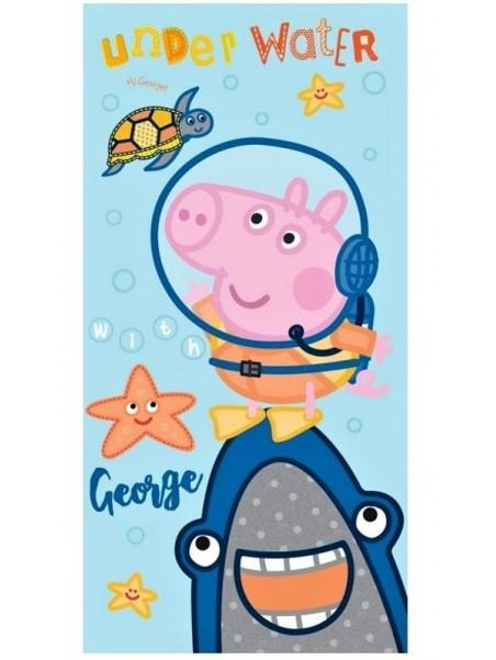 Dětská bavlněná osuška Prasátko Peppa - GEORGE POTÁPĚČ