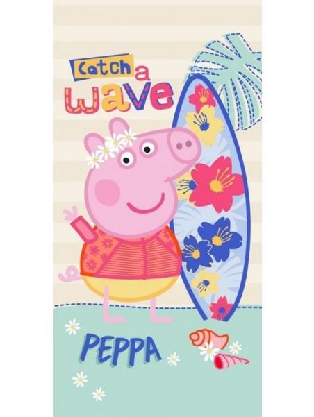 Dětská bavlněná osuška Prasátko Peppa - Surfing