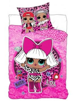 Dětské bavlněné povlečení L.0.L. Surprise - ROCK růžové
