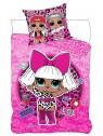 Detské bavlnené obliečky L.0.L. surprise - ROCK ružové