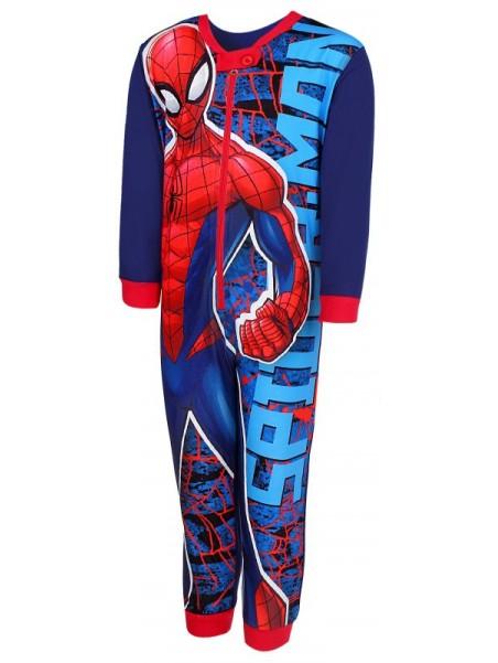 Chlapčenské pyžamo overal Spiderman MARVEL - tm. modrý