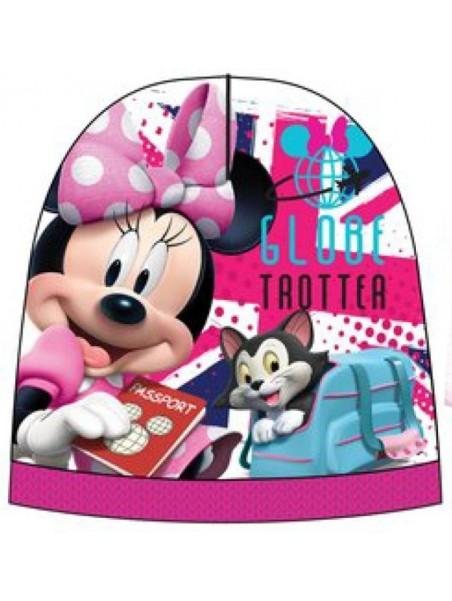 Dievčenská čiapka Minnie Mouse - ružová