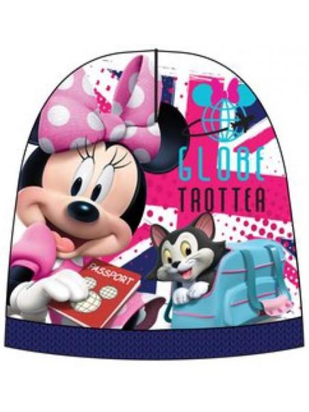 Dievčenská čiapka Minnie Mouse - modrá