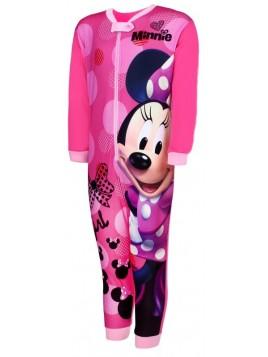 Dívčí pyžamo overal Minnie Mouse - tm. růžové