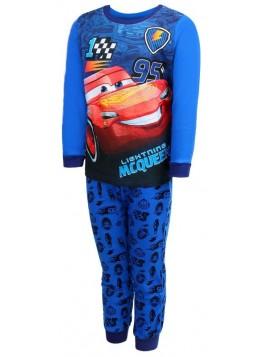 Chlapecké bavlněné pyžamo AUTA - BLESK MCQUEEN 95 - modré