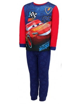 Chlapecké bavlněné pyžamo AUTA - BLESK MCQUEEN 95 - červené