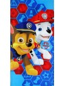 Detská bavlnená osuška Tlapková patrola - Chase a Marshall - modrá