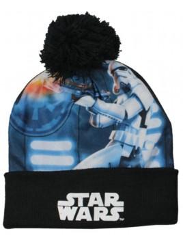 Chlapčenská čiapka s brmbolcom Star Wars - čierna