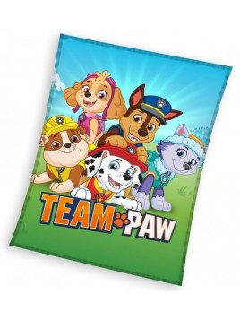 Velká dětská fleecová deka Tlapková patrola - Paw Patrol - TEAM