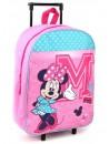 Krásný růžový dívčí cestovní kufřík na kolečkách s motivem myšky Minnie. Tento dětský kufr má hlavní kapsu o rozměrech 39 x 30 x 13 cm se zapínáním na zip. Dále 2 kolečka a výsuvné madlo pro pohodlnou manipulaci + poutko pro nošení v ruce a zavěšení.