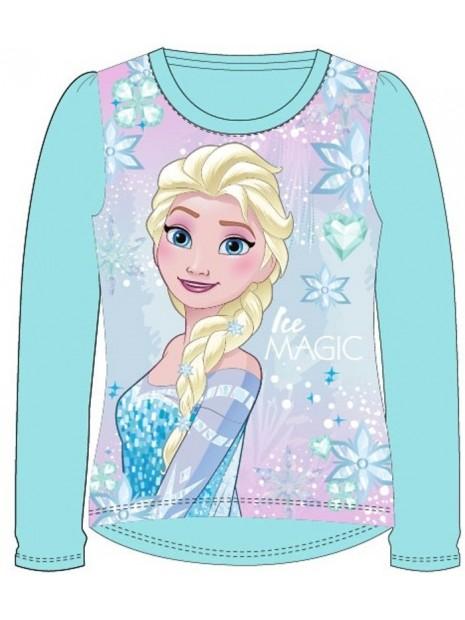 Dívčí tričko s dlouhým rukávem Ledové království (Frozen) - sv. modré